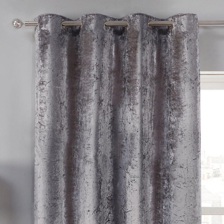 silver curtains elegance allure silver crushed velvet luxury eyelet curtains ... CCHNQHE