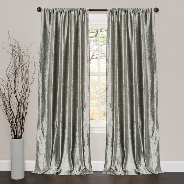 silver curtains lush decor velvet dream silver 84-inch curtain panel pair - overstock™  shopping ZENVEOD