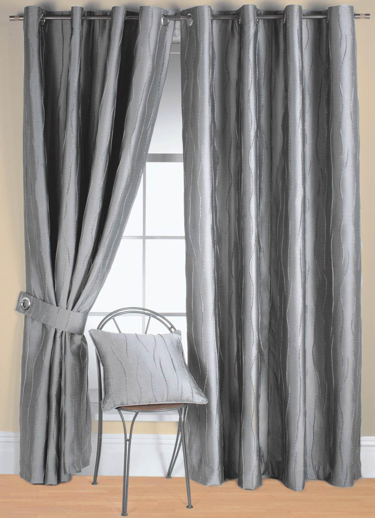 silver curtains spread silver hues in the room - goodworksfurniture NWMCVCF