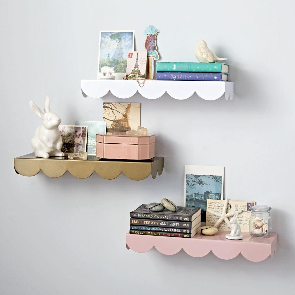 simple scallop wall shelf | the land of nod FRCZJOG