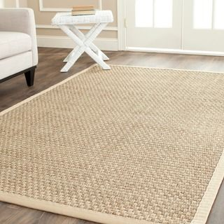 sisal rugs safavieh casual natural fiber natural and beige border seagrass rug (5u0027 x CAMGCDF