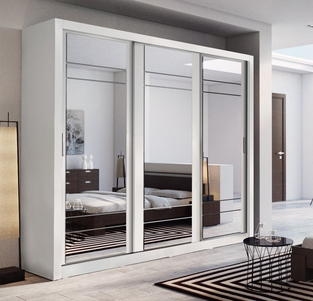 sliding door wardrobes arti 2 white 3 sliding door wardrobe 250cm YRPWXWK