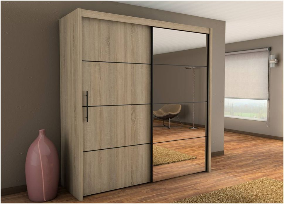 sliding door wardrobes carlos sliding door wardrobe 201cm in oak CIRCDIO