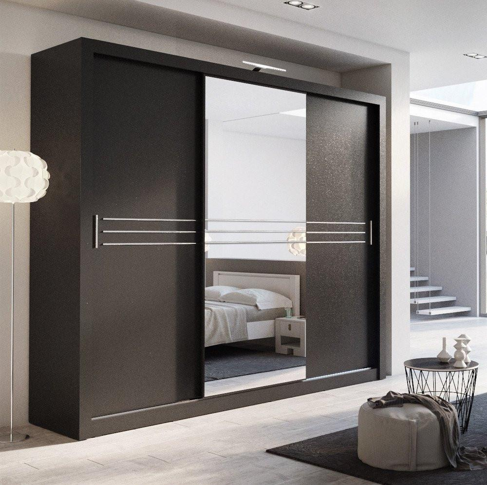 sliding door wardrobes havana 250 3 sliding door wardrobe in black EKMSZPY