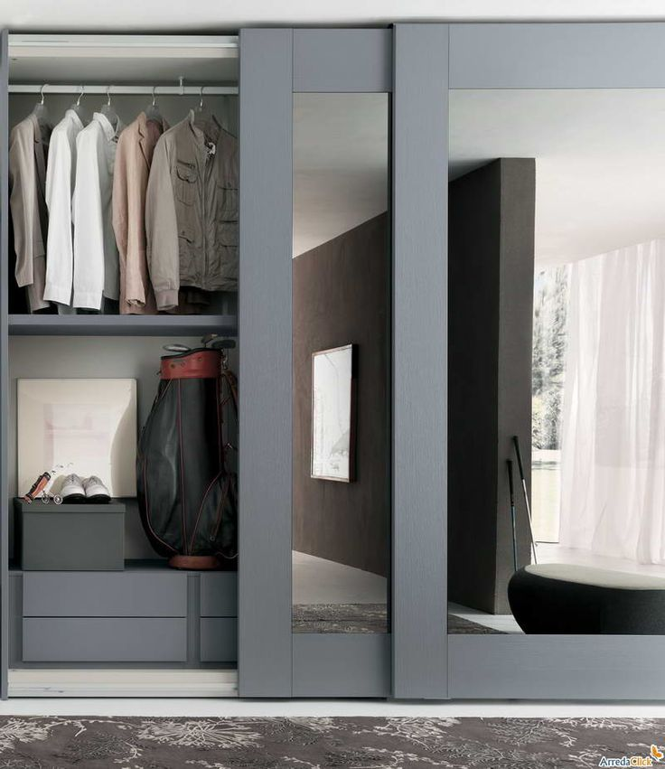 sliding door wardrobes sliding mirror closet doors with gray hair TXGRKFQ