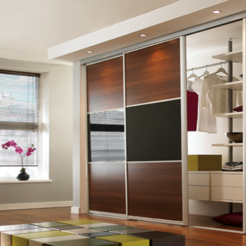 sliding wardrobe for your trendy home furnishing. Black Bedroom Furniture Sets. Home Design Ideas