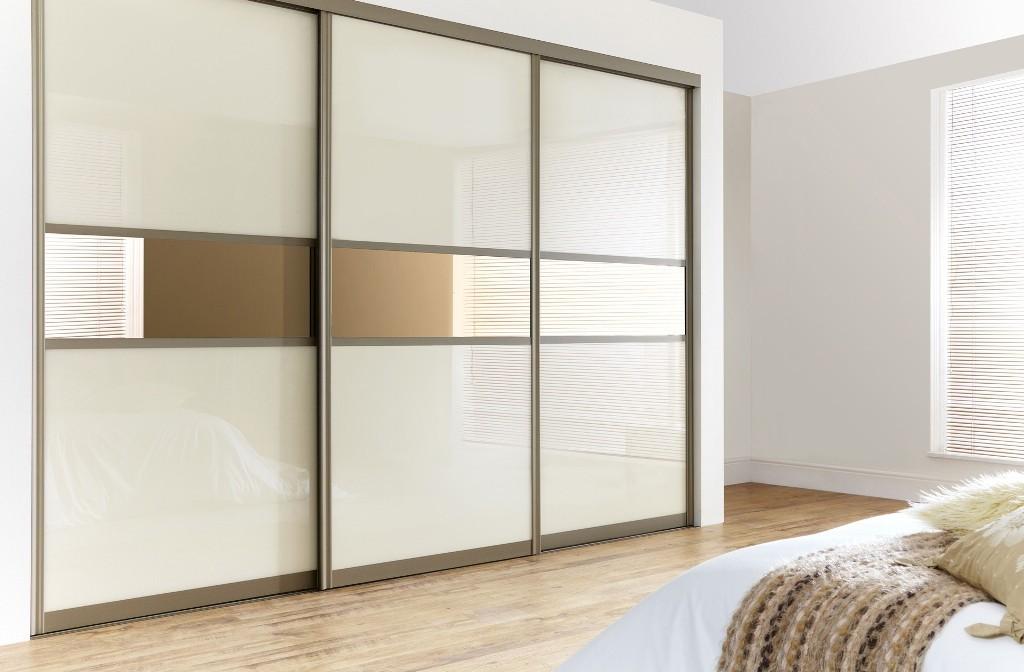 sliding wardrobes 3-sliding-door-wardrobe-cream-mirror ... ALXKOGZ