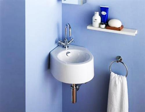 small bathroom sinks ... modern small bathroom sink and wall shelf ... OWODBDL