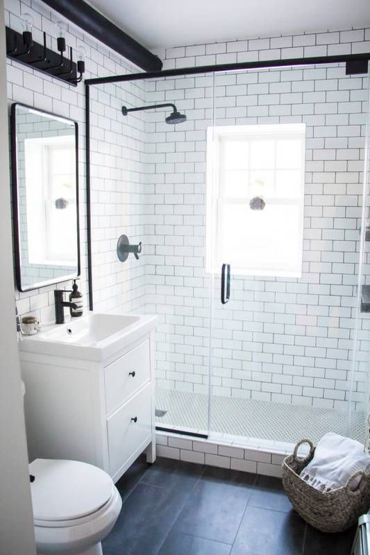 small bathrooms small bathroom makeovers: sleek and modern bathroom SVWEHPD