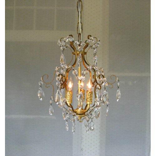 small chandeliers gabriella gold leaf three-light mini chandelier HIJQHVM