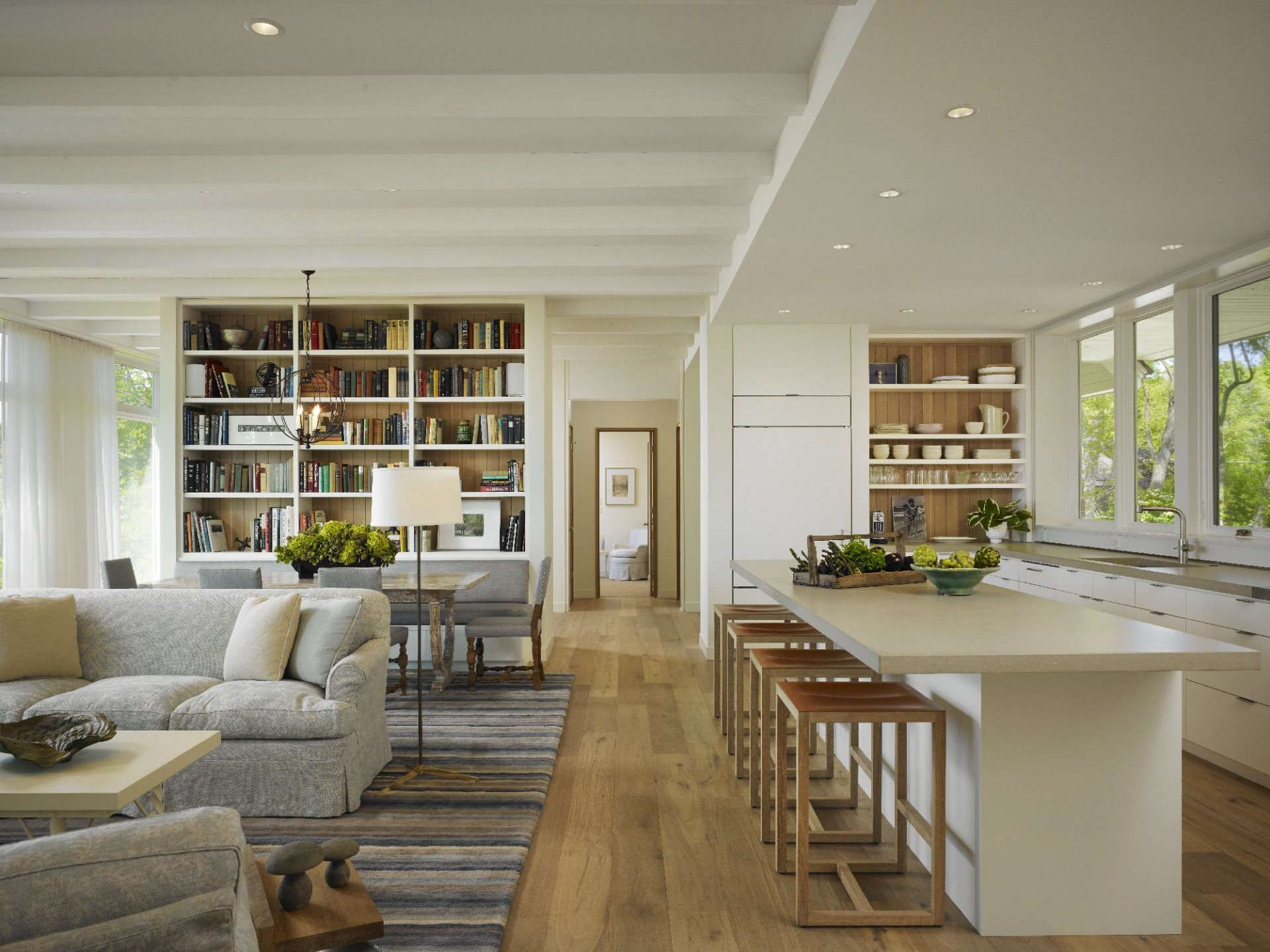small open plan kitchen and living room CJOYAPR