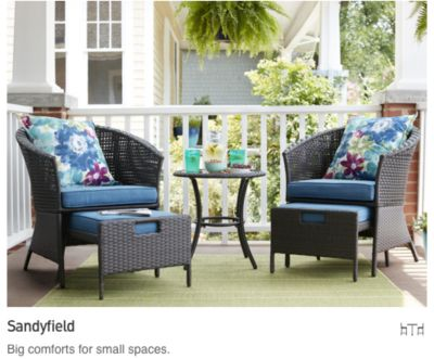 small patio furniture big comforts for small spaces. UMXXZIK
