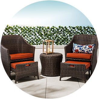 small patio furniture dining sets; conversation sets; small-space patio furniture ... WXDPBLB