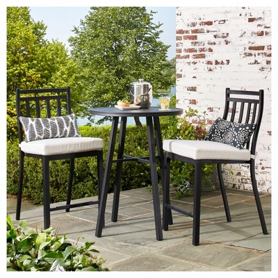 small patio furniture fairmont 3-piece steel balcony-height patio bistro set - threshold™ JTGUAXE