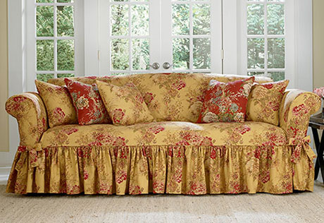sofa cover view details u003e · ballad bouquet waverly by sure fit ECSKMBP