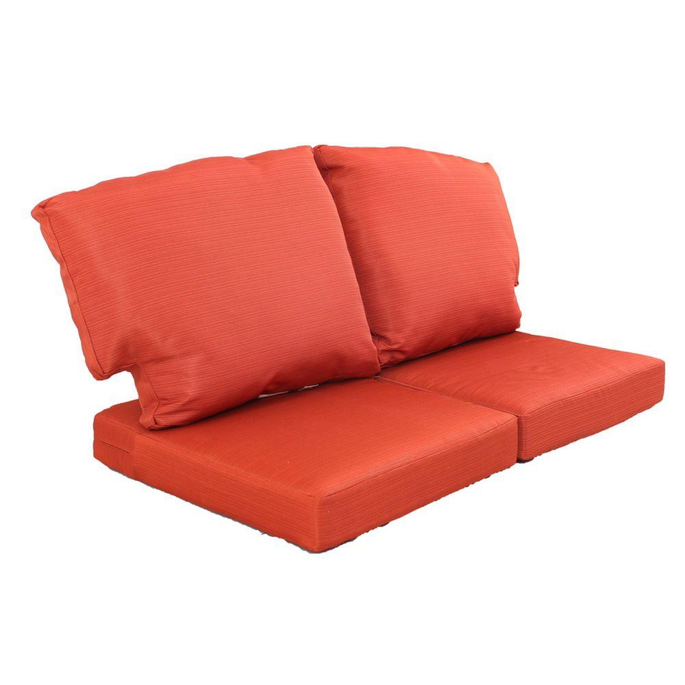 sofa cushions charlottetown quarry red replacement outdoor loveseat cushion IXCCOHE