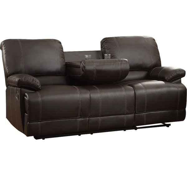 sofa recliner andover mills edgar double reclining sofa u0026 reviews | wayfair NPPZEWZ