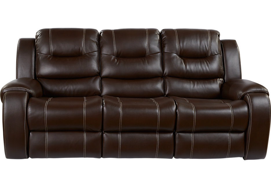 sofa recliner baycliffe brown reclining sofa - sofas (brown) QWNDMGD