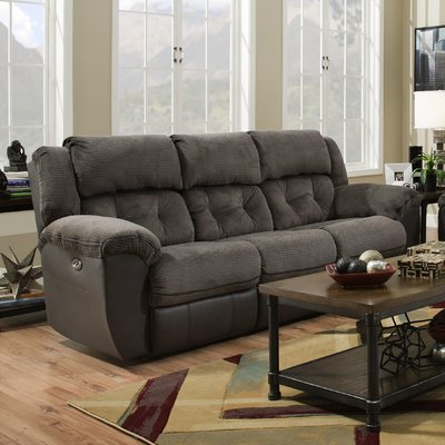 sofa recliner red barrel studio george reclining sofa u0026 reviews | wayfair BMUNJSQ