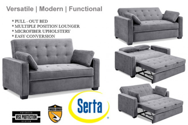 sofa sleeper grey-augustine-serta-dream-rise-sleeper-lounger-u0026- ZECBAMW