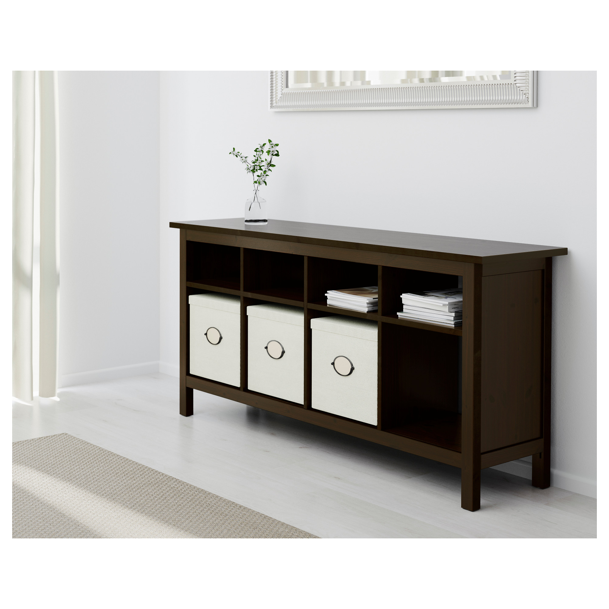 sofa table hemnes console table - black-brown - ikea ERBFCVC