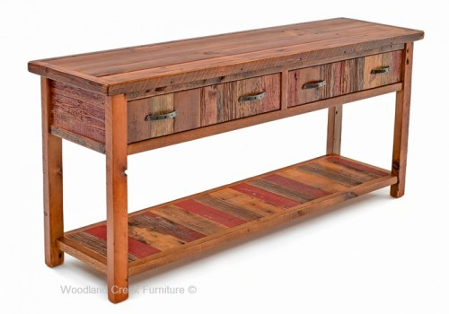 sofa tables old wood sofa table cottage sofa table in antique woods CYBZRIP