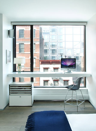 soho loft master bedroom desk modern-bedroom VPEOWHF