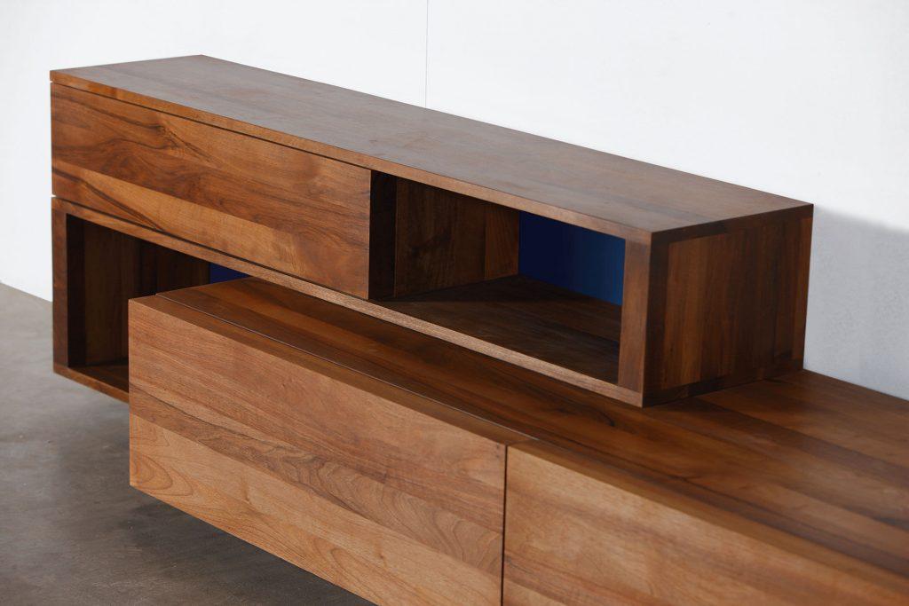 solid wood furniture contemporary sideboard / oak / walnut / solid wood log by michael schneider HNBDWDA