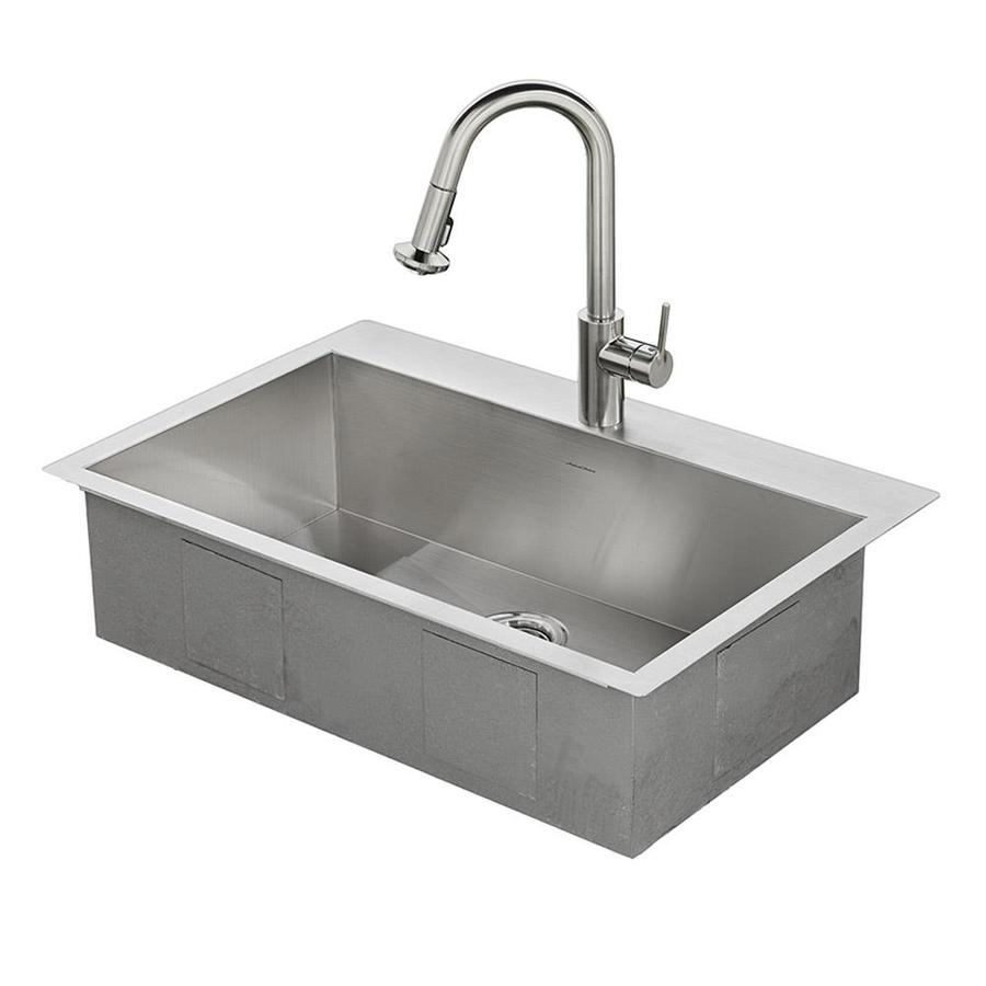 stainless steel kitchen sinks american standard memphis 33-in x 22-in single-basin stainless steel drop DCPJHDT