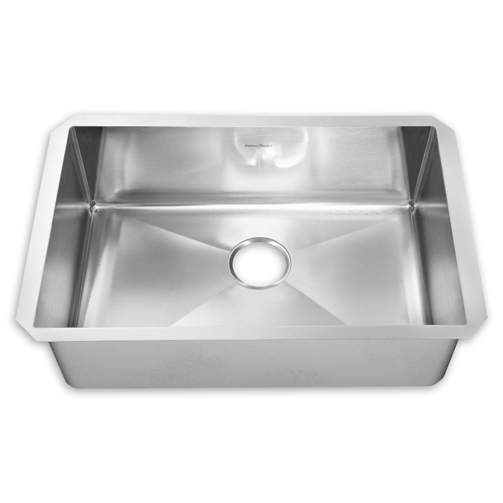 stainless steel kitchen sinks prevoir stainless steel undermount 1-bowl kitchen sink - american standard URLDYWJ