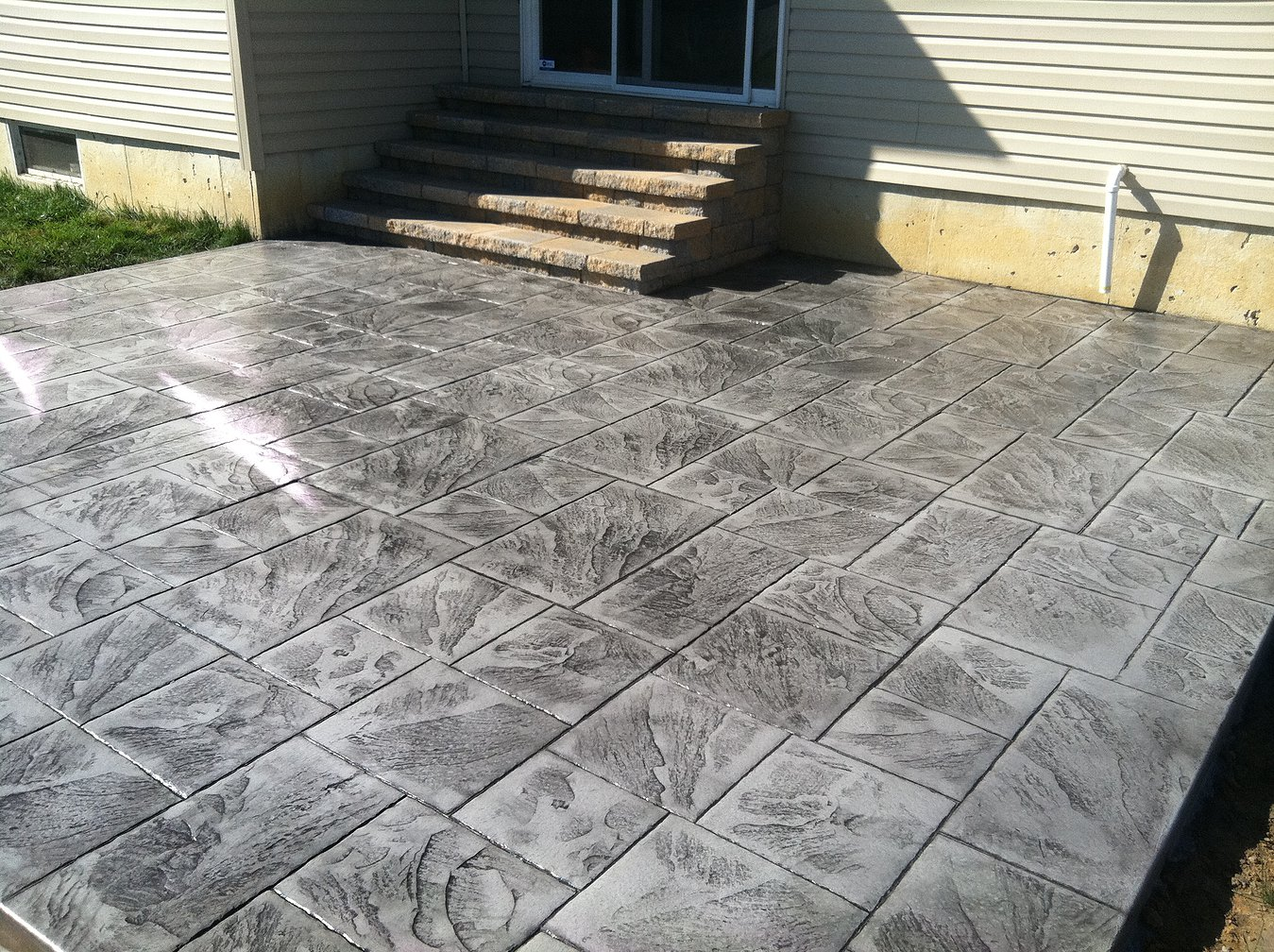 Stamped Concrete Add Personality To Your Garden
