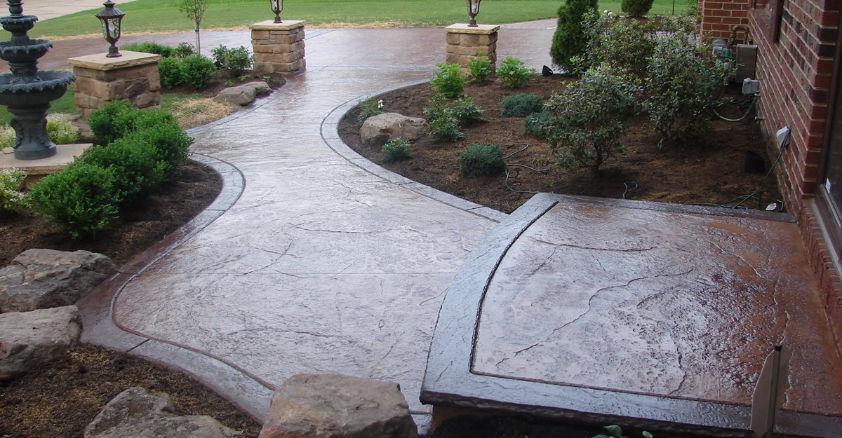 stamped concrete entryway WJKJEFR