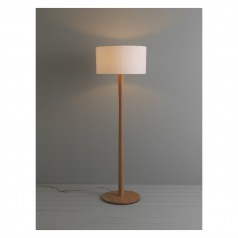 standard lamps pole oak floor lamp with white shade BDRHEYC
