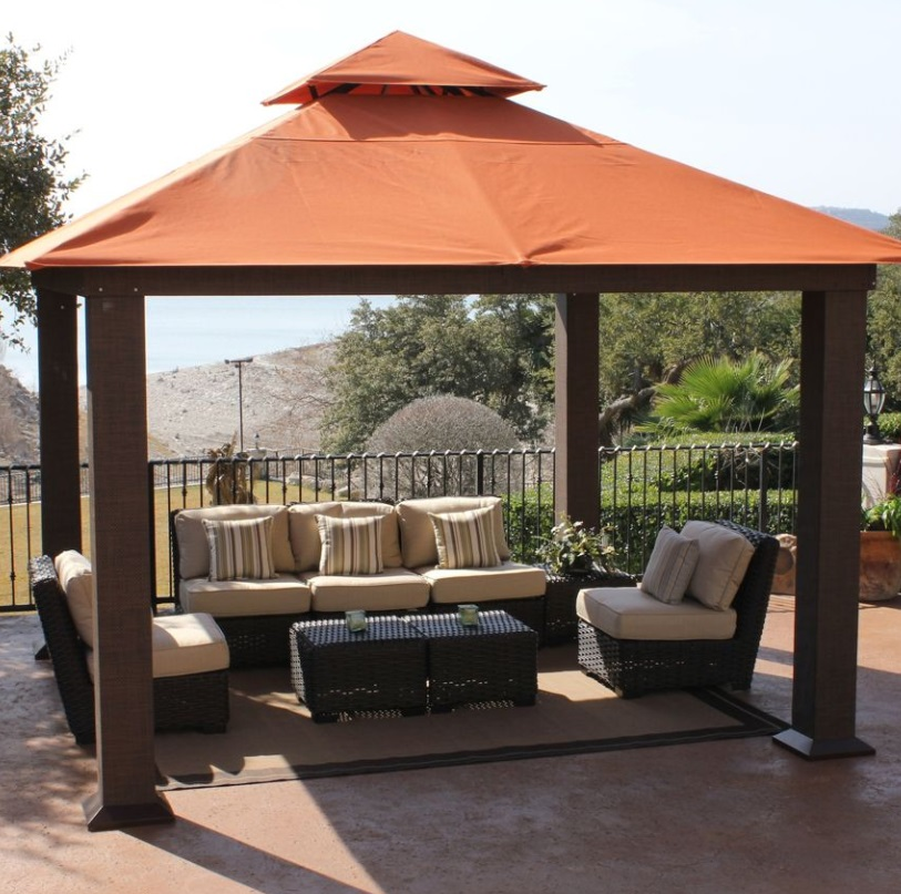 stc seville metal u0026 fabric patio gazebo JUKOYIT