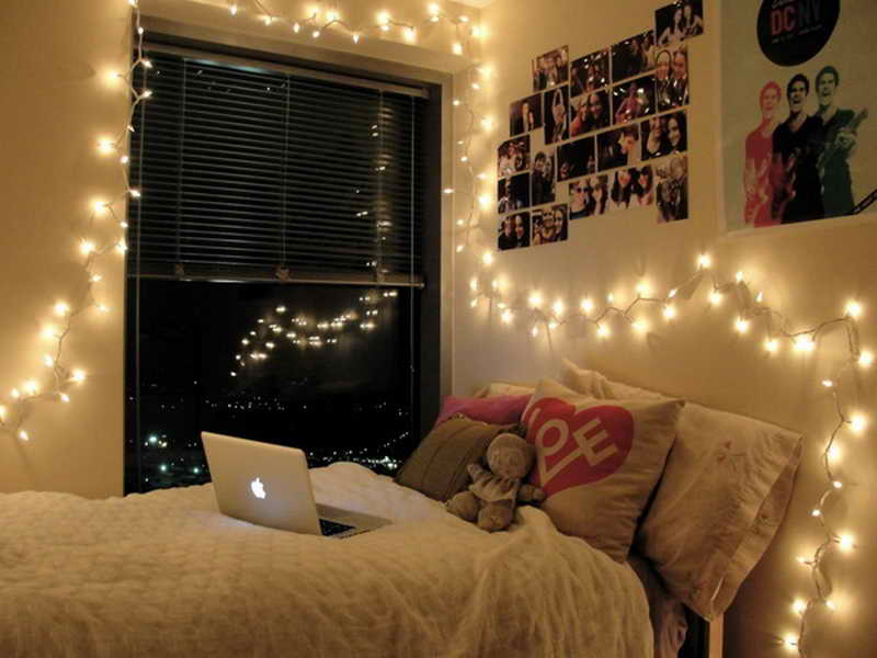 string lights for bedroom wall TIEBDWZ
