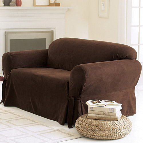 sure fit soft suede sofa cover NENRJFC