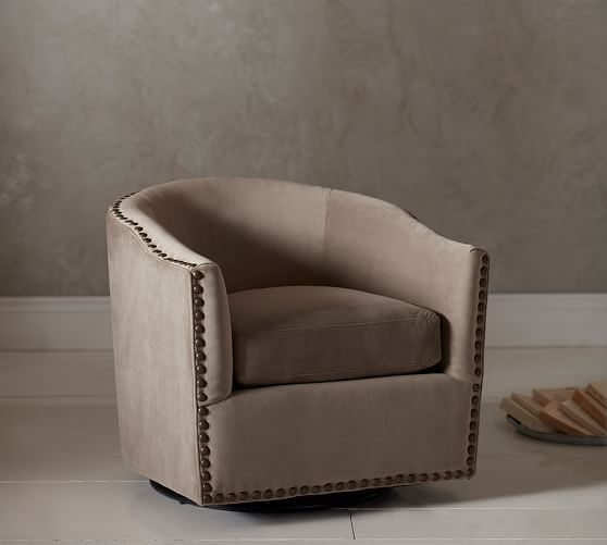 Swivel Chairs For Living Room Pottery Barnu0027s Armchairs And Accent Are