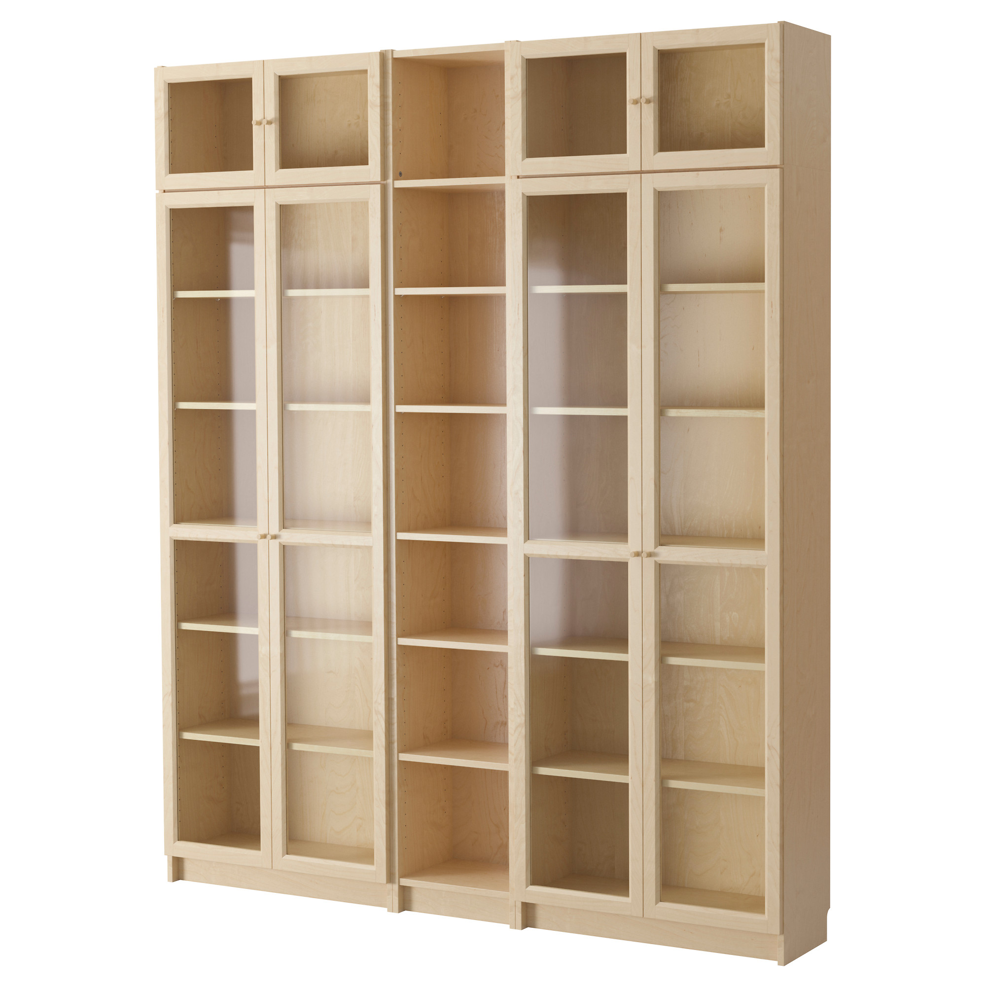 tall bookshelves billy / oxberg bookcase, birch veneer width: 78 3/4  KVRUQGK