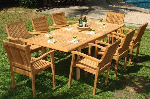 teak furniture 9-piece-teak-dining-set RNAFCFV