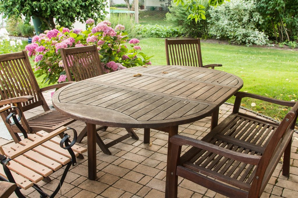 teak garden furniture teak-wood-garden-furniture-oval-table ZHFLQPD