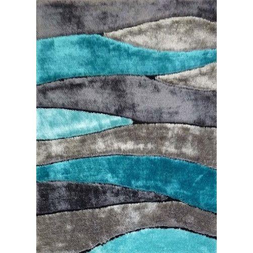 teal rugs 5 x 7 medium gray u0026 teal area rug - living shag JILZDXW