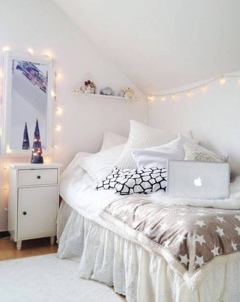 teenage bedrooms with lights medium brick wall mirrors BMOSLND