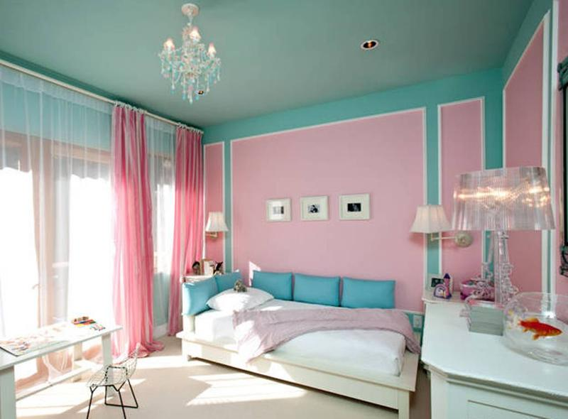tifany blue and pink bedroom NAXUYTS