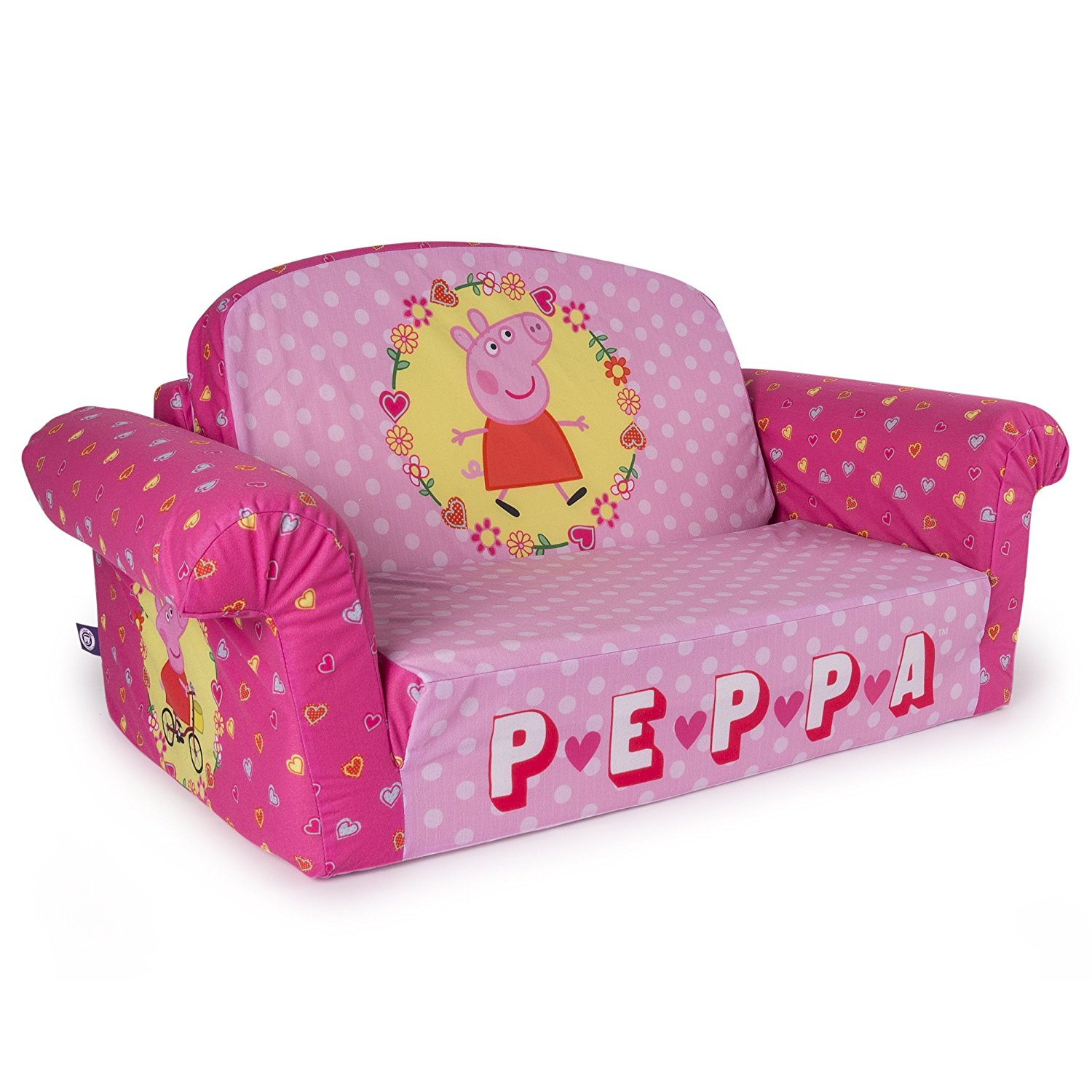 toddler sofa amazon.com: marshmallow furniture, childrenu0027s 2 in 1 flip open foam sofa,  peppa REYBZBA