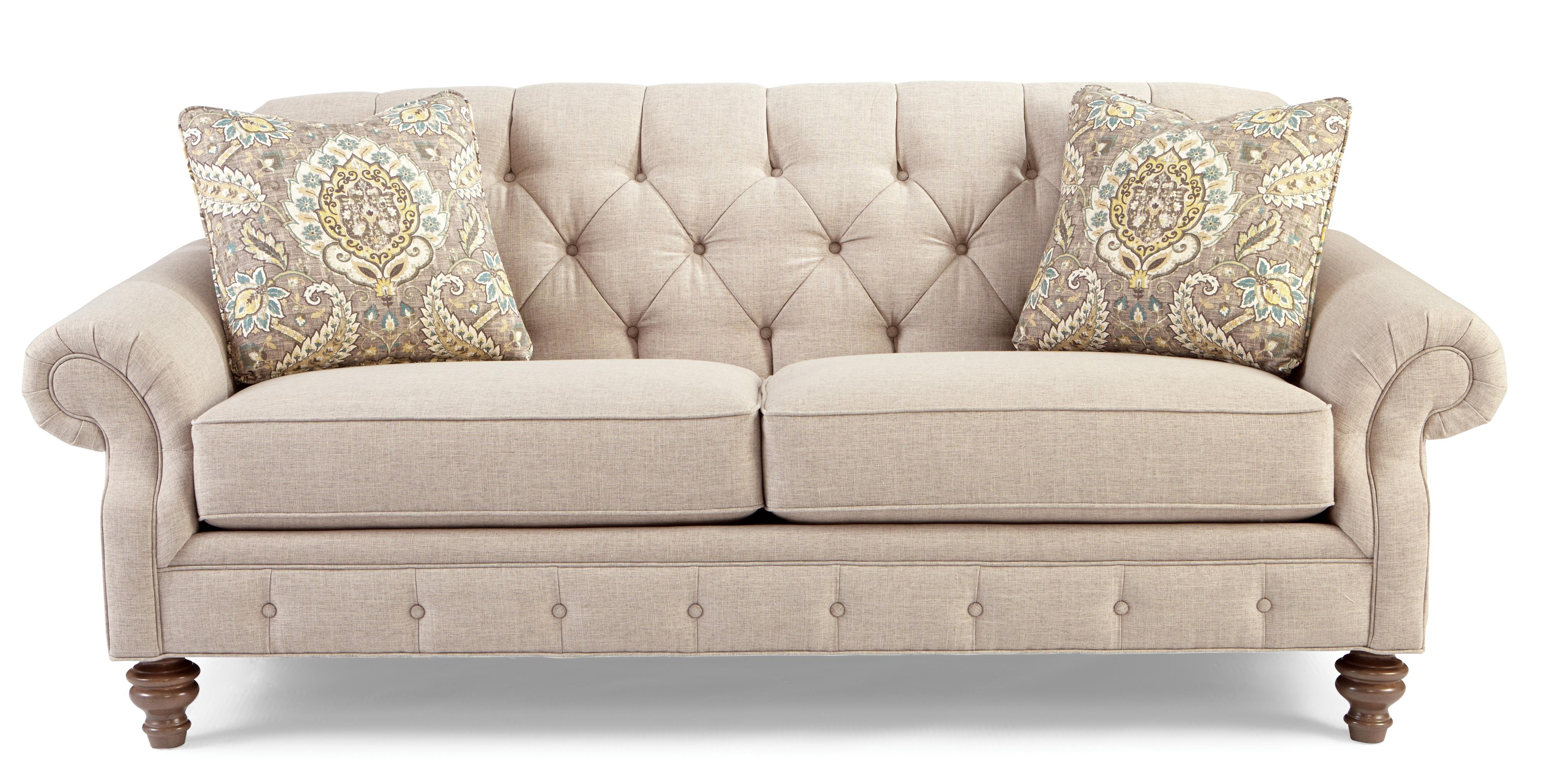 traditional button-tufted sofa with wide flared arms TLPCYCF