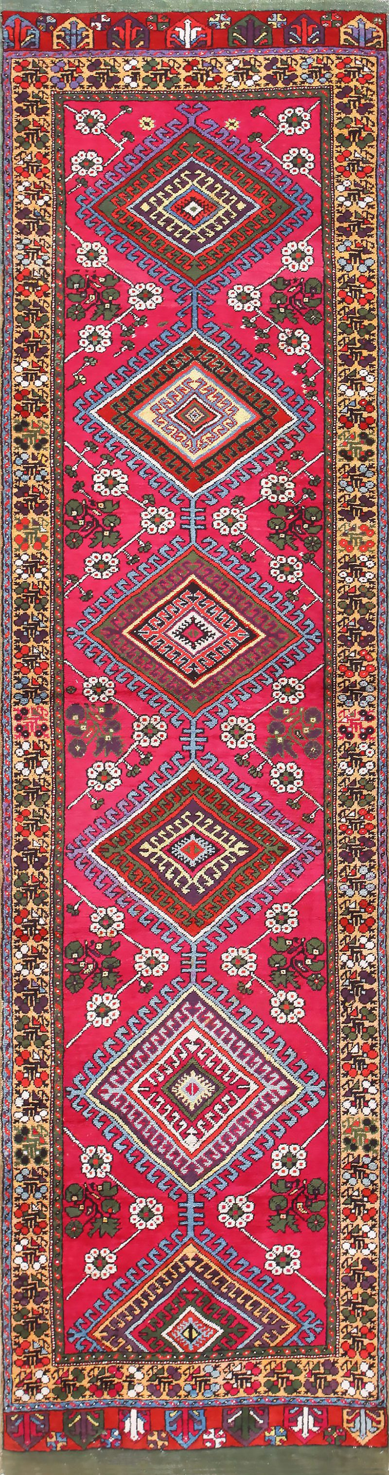 tribal antique turkish kirshehir runner rug 48883 nazmiyal OZVLJPM