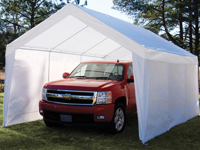 true shelter 12u0027 x 20u0027 car canopy gazebo tent cover 8 legs steel UICVTHS