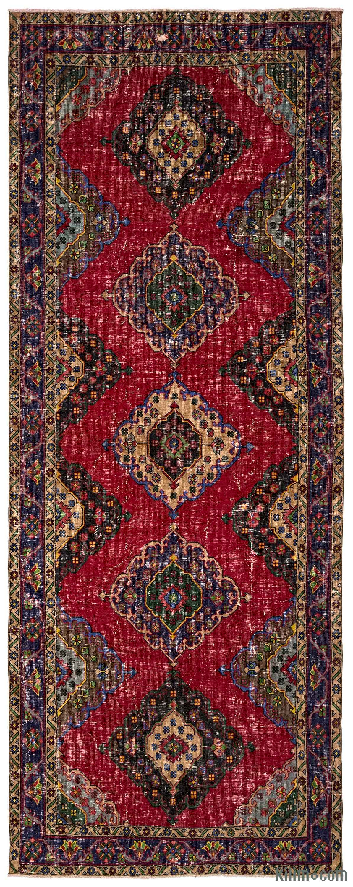 turkish vintage runner rug FWHBBHZ