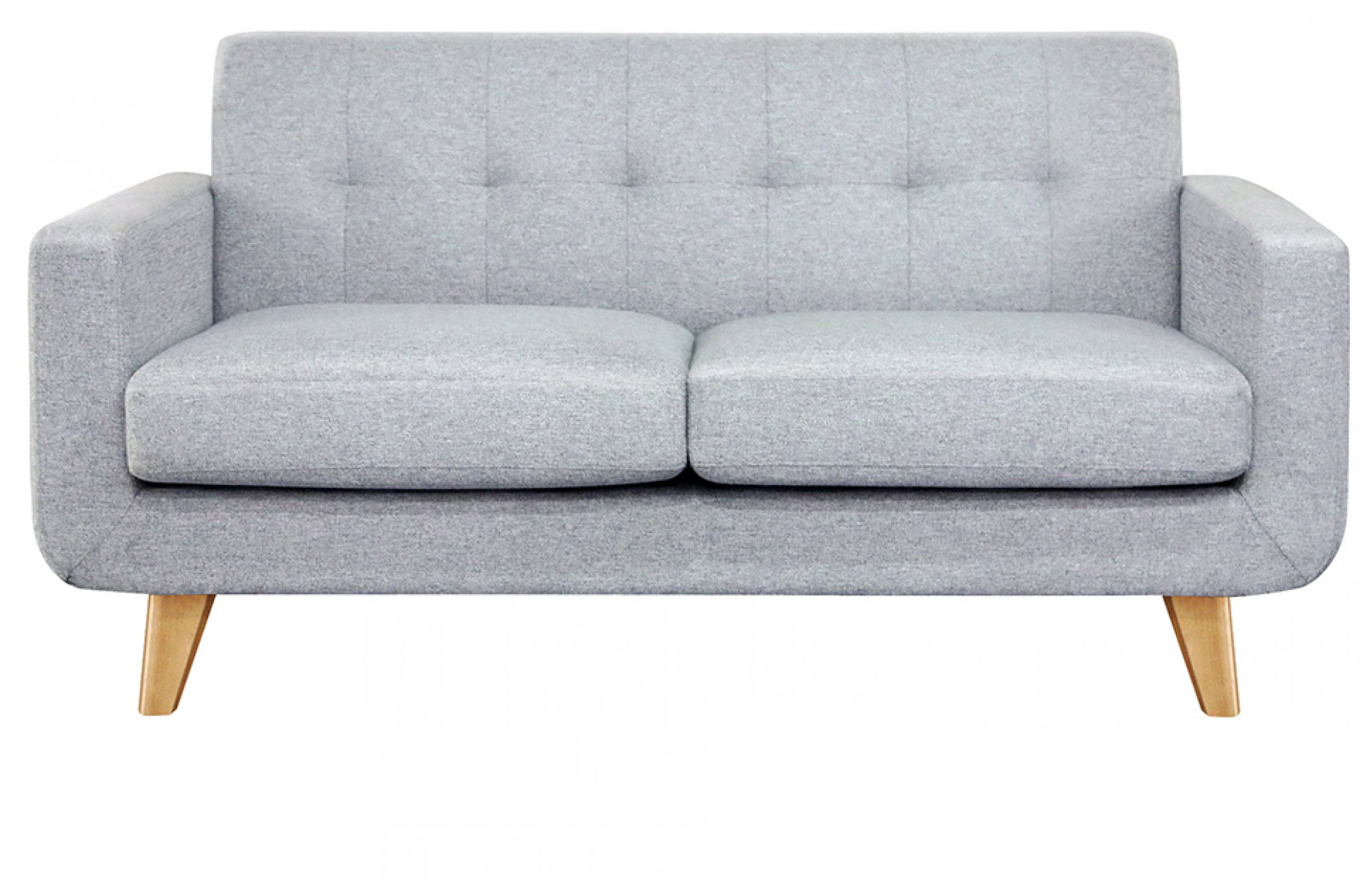 two seater sofa grey 2 seater sofa - oak legs -lounge furniture - out u0026 out EEQLBOC