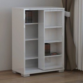 unique and modern dvd storage ideas : white simple dvd AKLMJOS